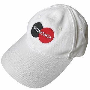 BALENCIAGA Uniform Logo White Ball Cap NWT